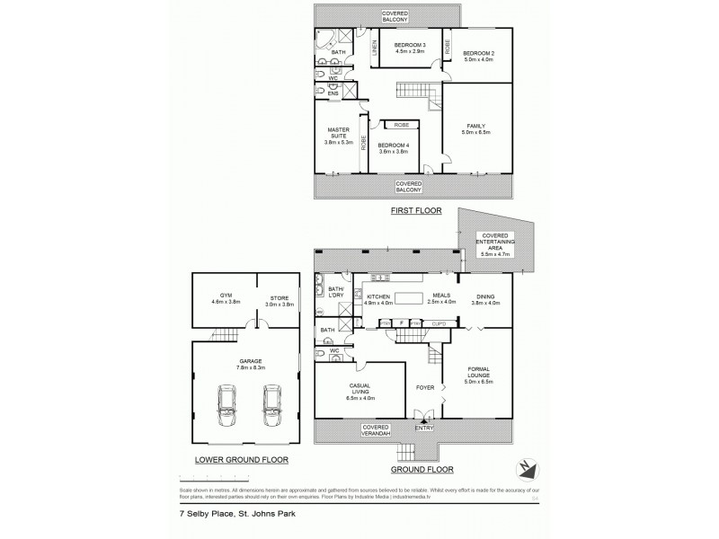 7 Selby Place, St Johns Park NSW 2176 Floorplan