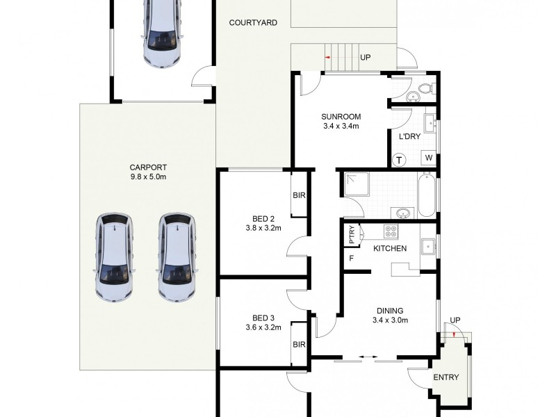 83 Russell Street, Balgownie NSW 2519 Floorplan