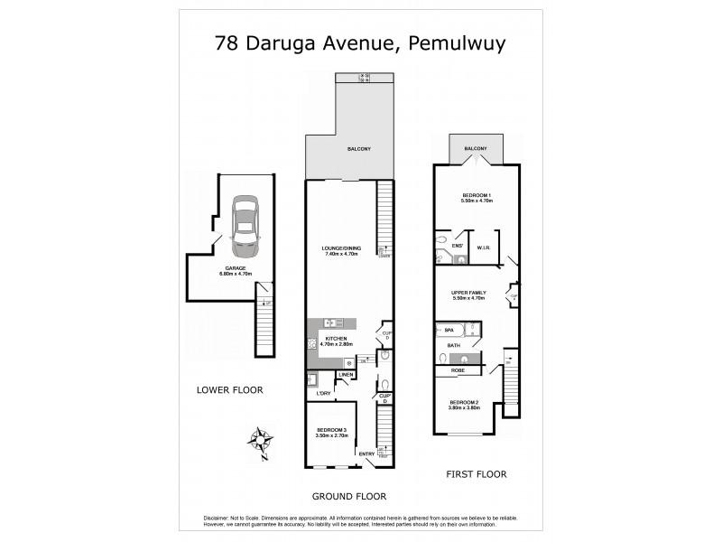 78 Daruga Avenue, Pemulwuy NSW 2145 Floorplan
