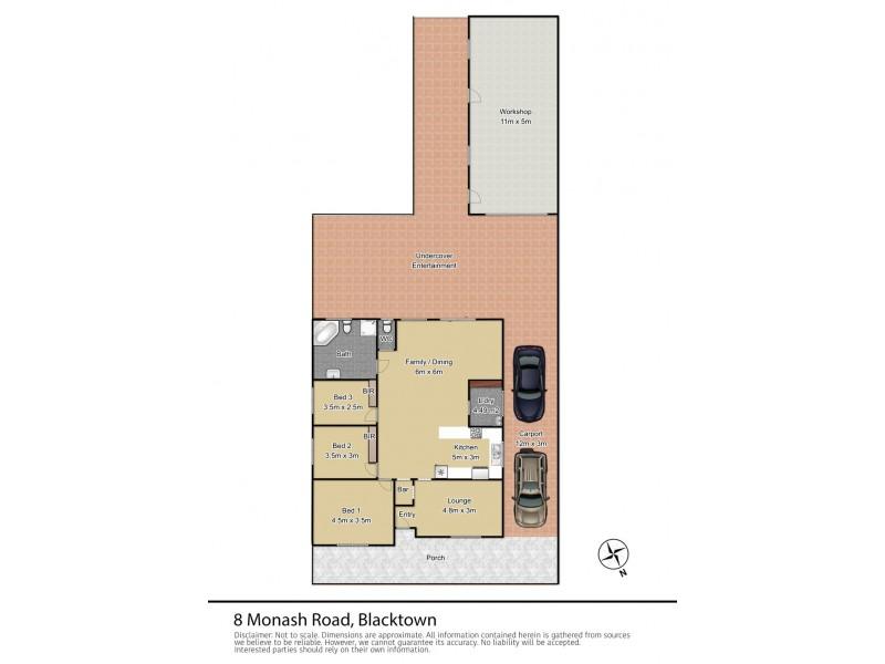8 Monash Road, Blacktown NSW 2148 Floorplan