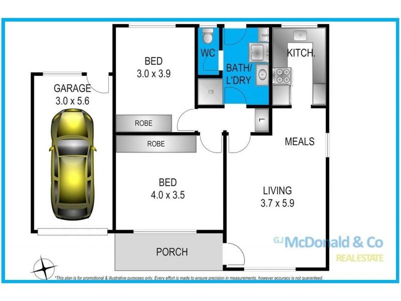 1-3/13 Matilda Court, Belmont VIC 3216 Floorplan
