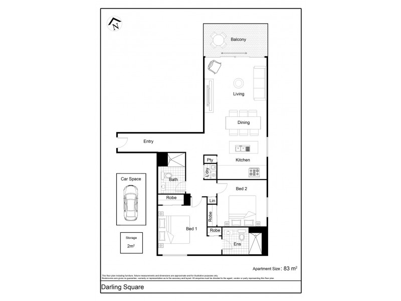 3268/65 Tumbalong Boulevard, Sydney NSW 2000 Floorplan