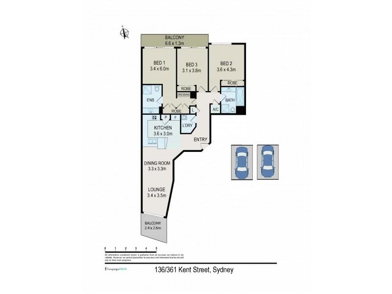 136/361 Kent Street, Sydney NSW 2000 Floorplan