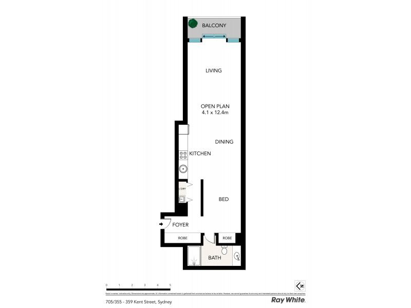 705 / 355-359 Kent Street, Sydney NSW 2000 Floorplan