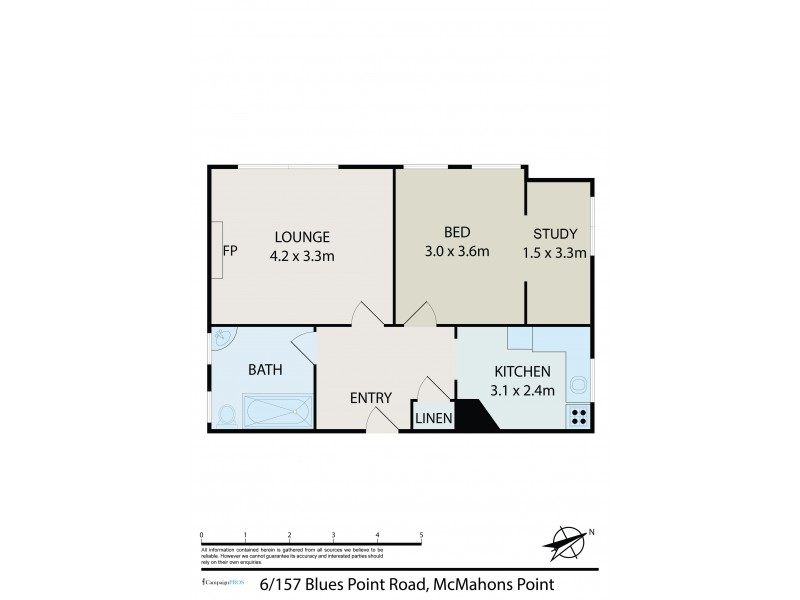 6/157 Blues Point Road, Mcmahons Point NSW 2060 Floorplan