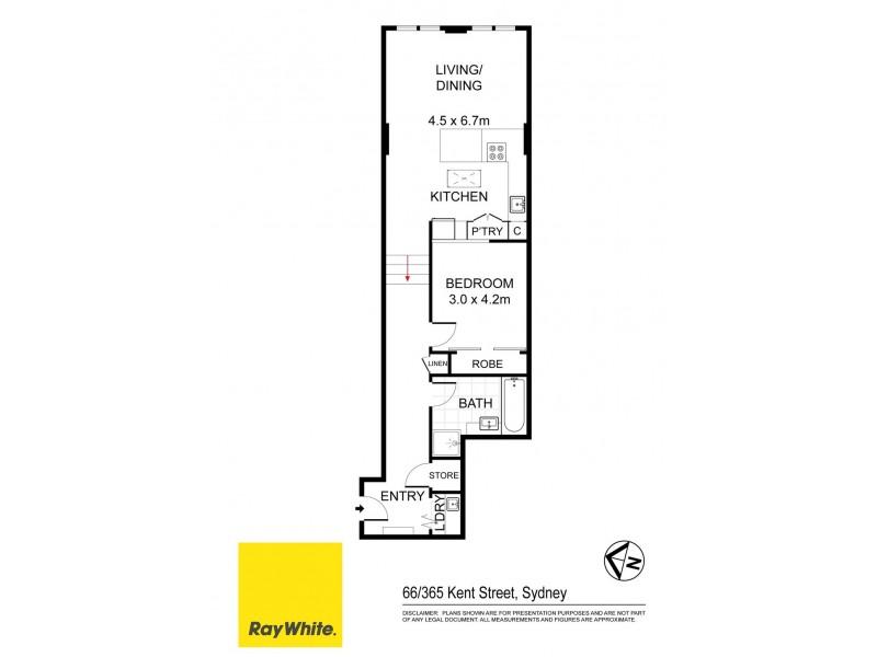 66 / 365 Kent Street, Sydney NSW 2000 Floorplan