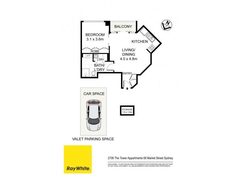 2706 / 68 Market Street, Sydney NSW 2000 Floorplan