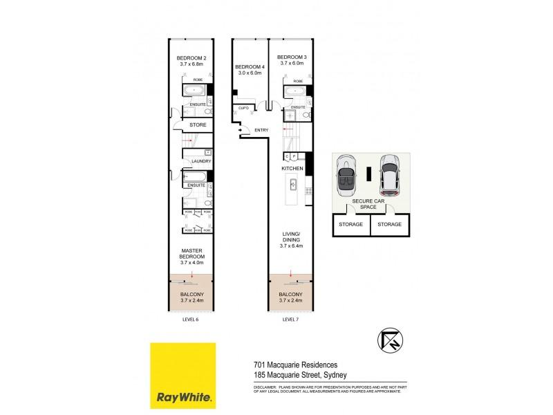 701 / 185 Macquarie Street, Sydney NSW 2000 Floorplan