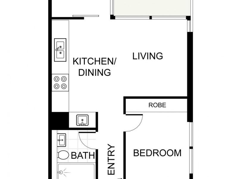 39.05 / 115 Bathurst Street, Sydney NSW 2000 Floorplan