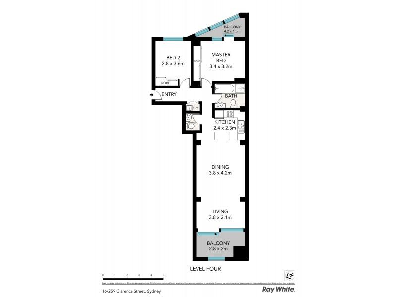 16 / 259 Clarence Street, Sydney NSW 2000 Floorplan