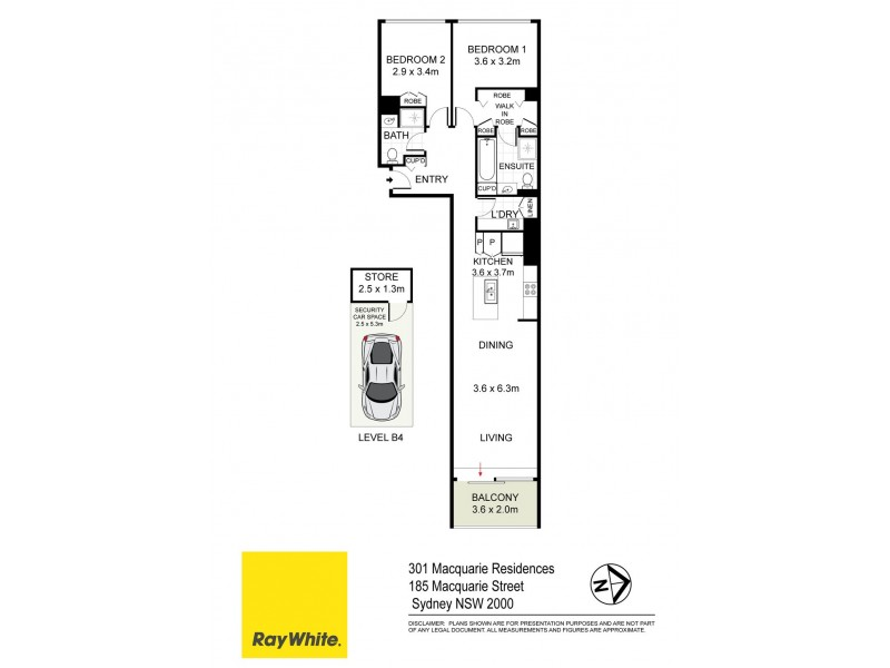 301 / 185 Macquarie Street, Sydney NSW 2000 Floorplan