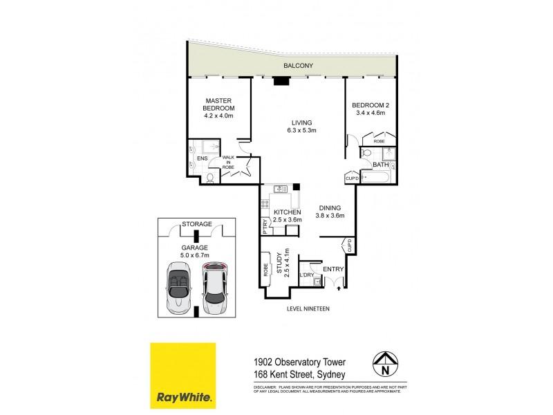 1902 / 168 Kent Street, Sydney NSW 2000 Floorplan