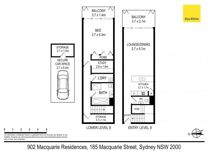902 / 185 Macquarie Street, Sydney NSW 2000 Floorplan