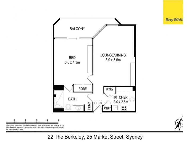 22 / 25 Market Street, Sydney NSW 2000 Floorplan