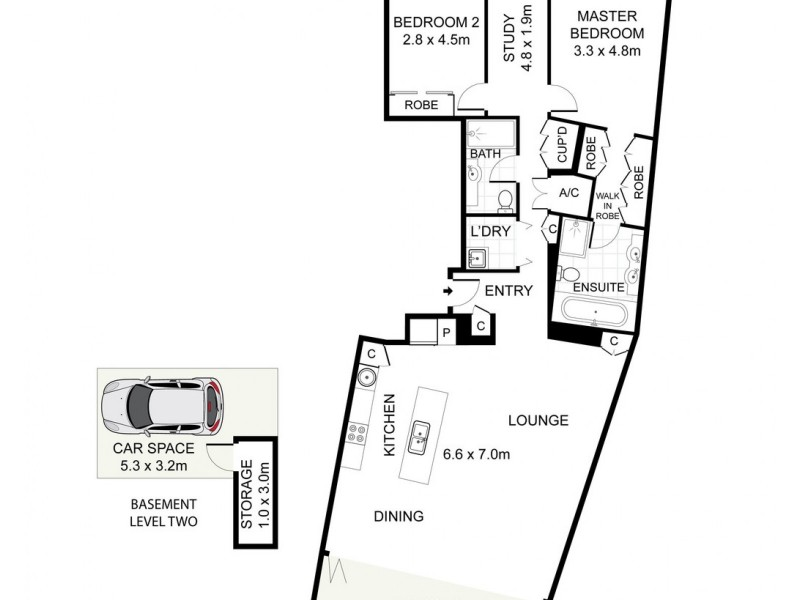 12 / 5 Towns Place, Walsh Bay NSW 2000 Floorplan