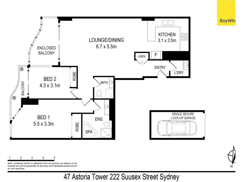 47 / 222 Sussex Street, Sydney NSW 2000 Floorplan