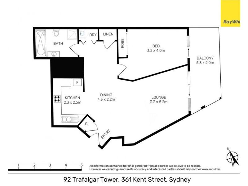 92 / 361 Kent Street, Sydney NSW 2000 Floorplan