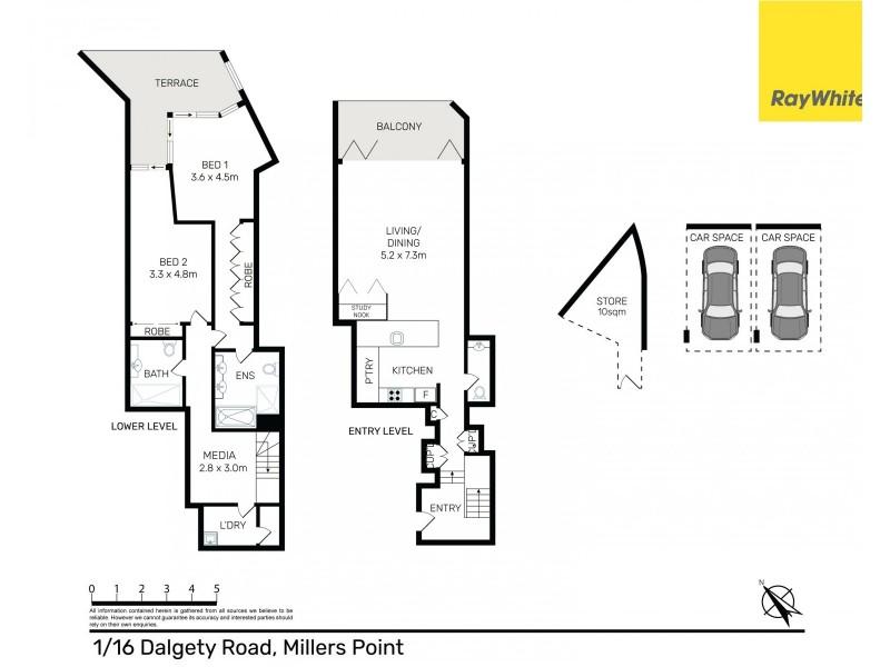 1 / 16 Dalgety Road, Sydney NSW 2000 Floorplan