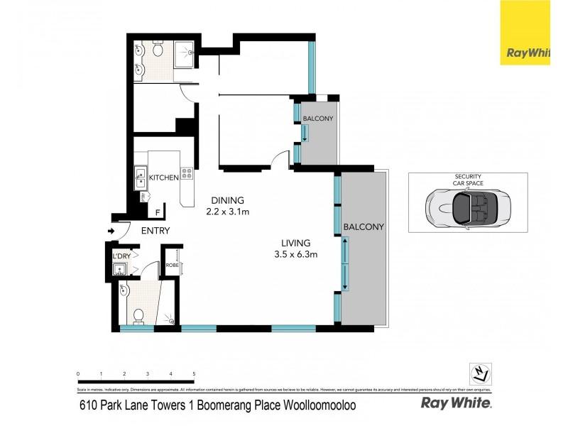 610 / 1 Boomerang Place, Sydney NSW 2000 Floorplan