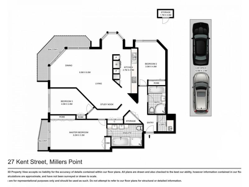 1903 / 127 Kent Street, Sydney NSW 2000 Floorplan