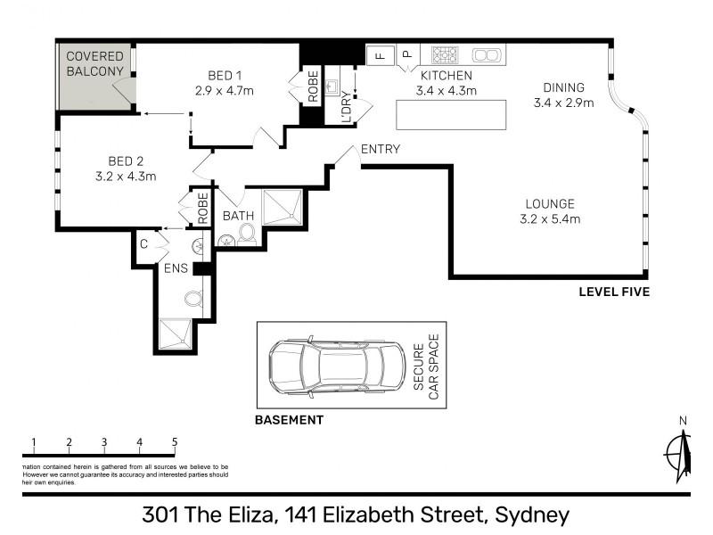 301 / 141 Elizabeth Street, Sydney NSW 2000 Floorplan