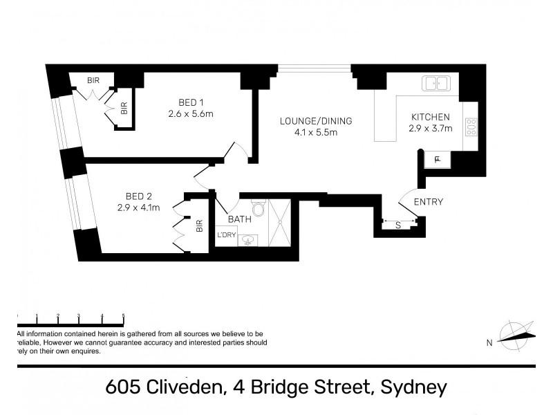 605 / 4 Bridge Street, Sydney NSW 2000 Floorplan