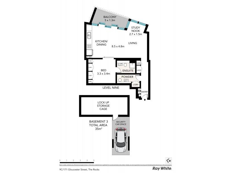 9 C / 171 Gloucester Street, Sydney NSW 2000 Floorplan