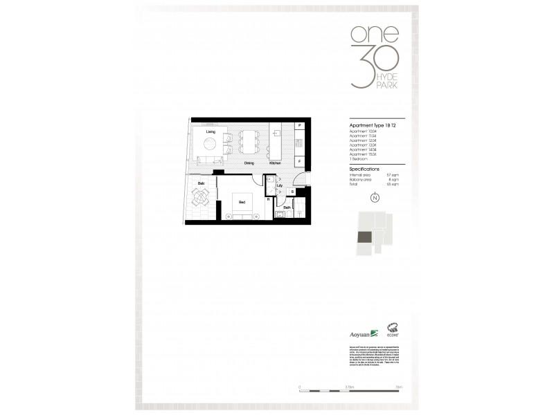 1304 / 130 Elizabeth Street, Sydney NSW 2000 Floorplan
