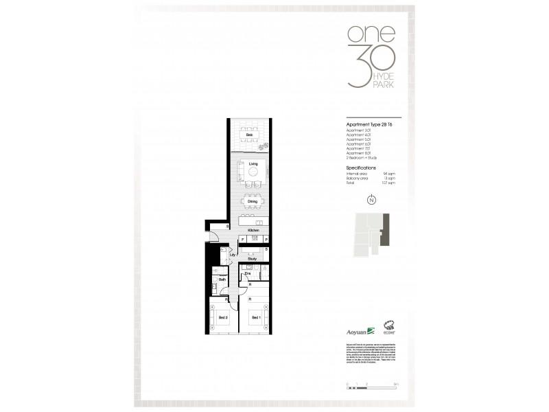 601 / 130 Elizabeth Street, Sydney NSW 2000 Floorplan