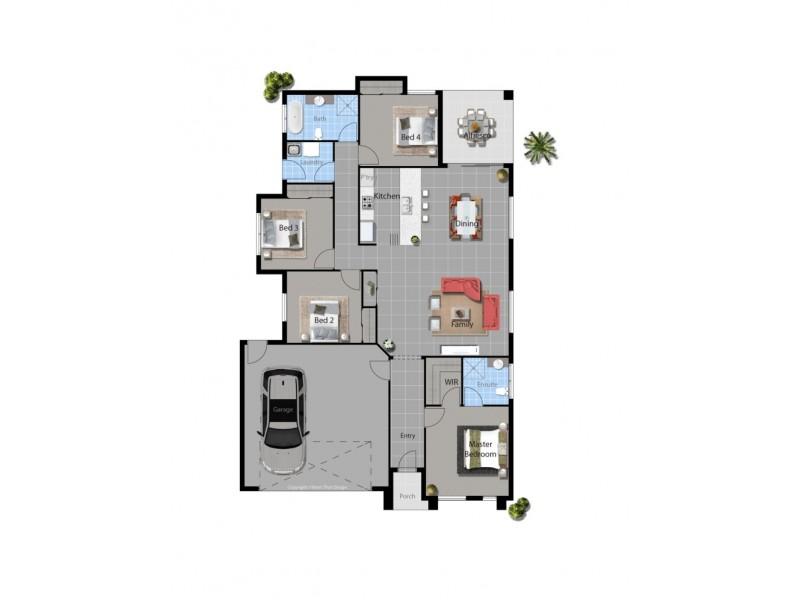 Lot 83 Hidden Court, Cannonvale QLD 4802 Floorplan