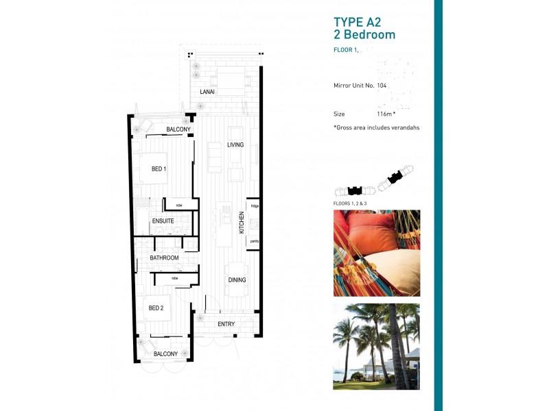 104/33 Port Drive, Airlie Beach QLD 4802 Floorplan