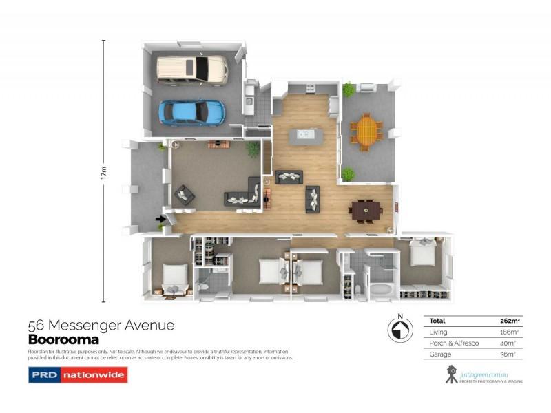 56 Messenger Avenue, Boorooma NSW 2650 Floorplan