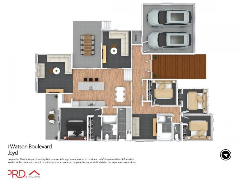 4 Watson Boulevard, Lloyd NSW 2650 Floorplan