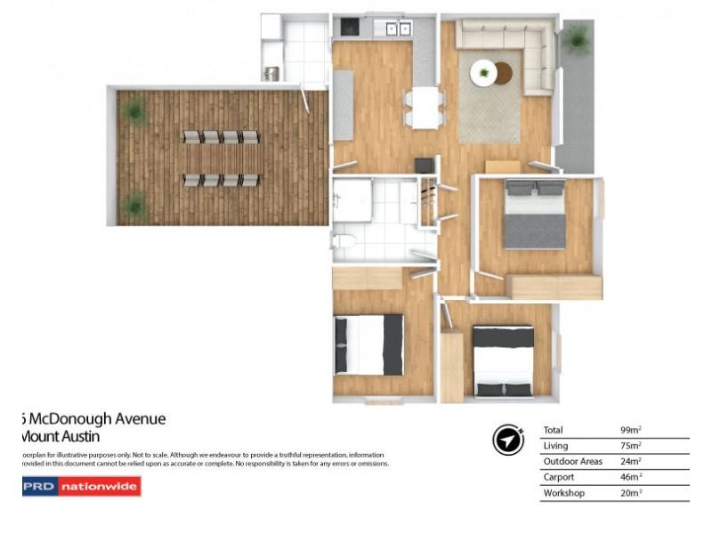 6 McDonough Avenue, Mount Austin NSW 2650 Floorplan