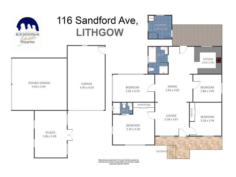 116 Sandford Avenue, Lithgow NSW 2790 Floorplan