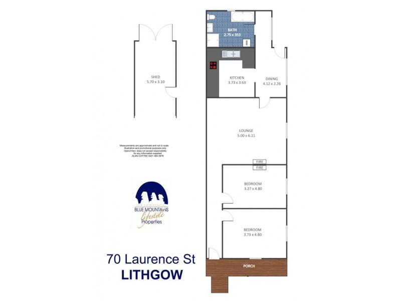 70 Laurence St, Lithgow NSW 2790 Floorplan
