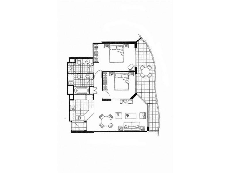 602/88 Marine Pde, Coolangatta QLD 4225 Floorplan