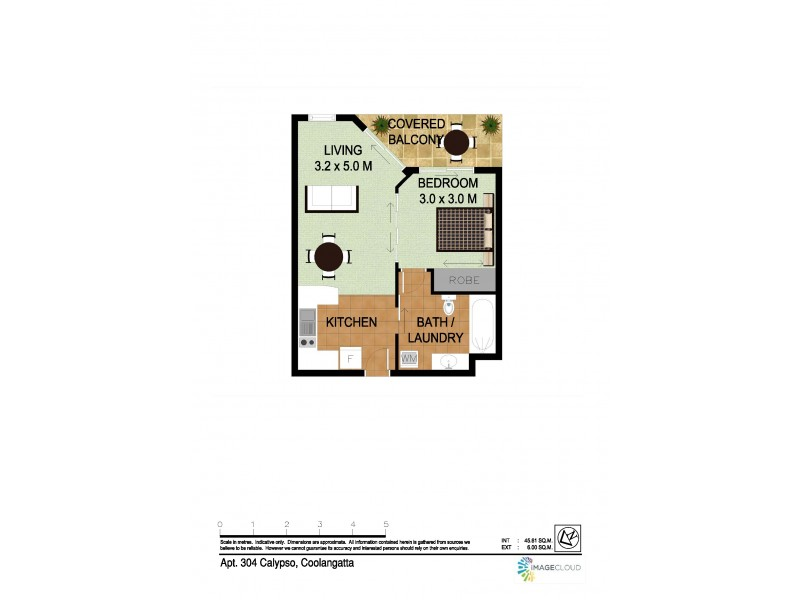 304/99 Griffith Street, Coolangatta QLD 4225 Floorplan