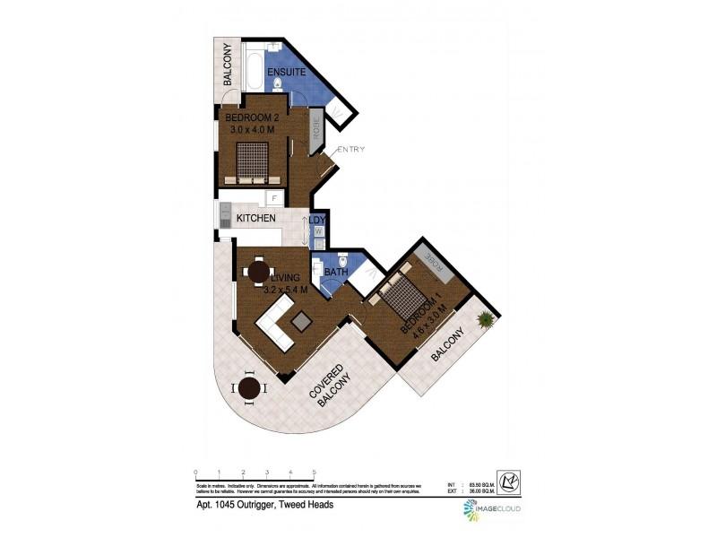1045/4 Stuart Street, Tweed Heads NSW 2485 Floorplan