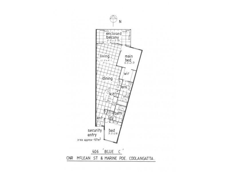 406/3 McLean Street, Coolangatta QLD 4225 Floorplan
