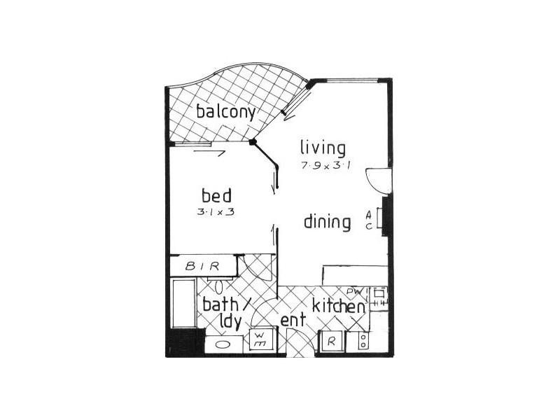326/99 Griffith Street, Coolangatta QLD 4225 Floorplan