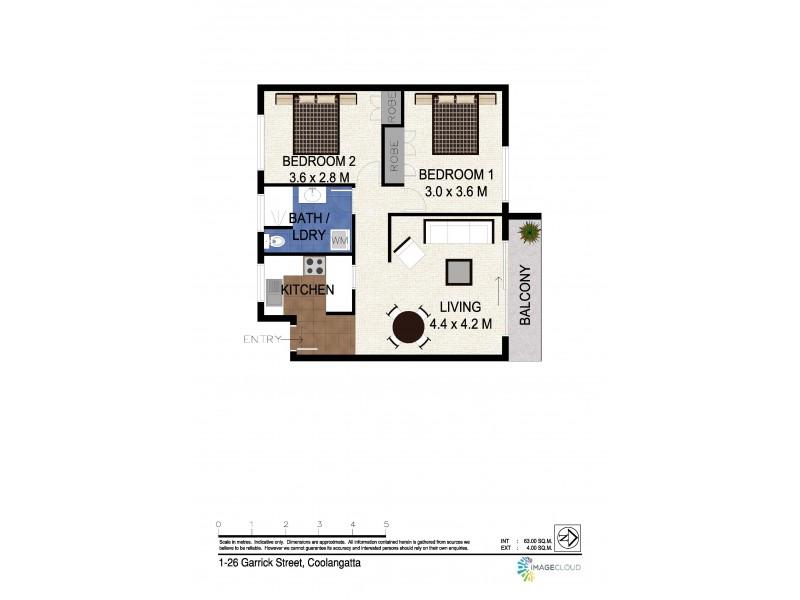 1/26 Garrick Street, Coolangatta QLD 4225 Floorplan