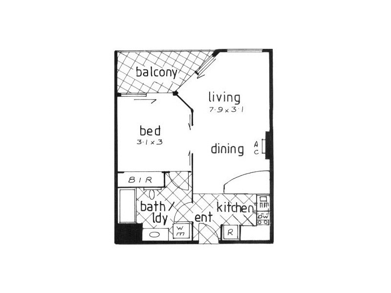 356/99 Griffith Street, Coolangatta QLD 4225 Floorplan