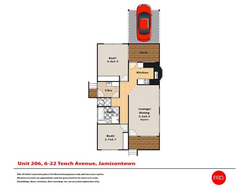 206/6-22 Tench Avenue, Jamisontown NSW 2750 Floorplan