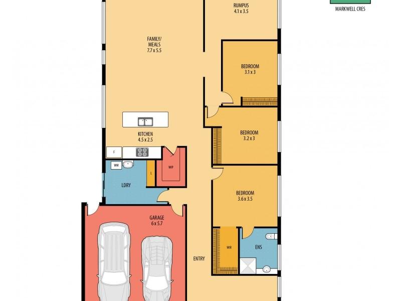 5 Markwell Crescent, Mango Hill QLD 4509 Floorplan