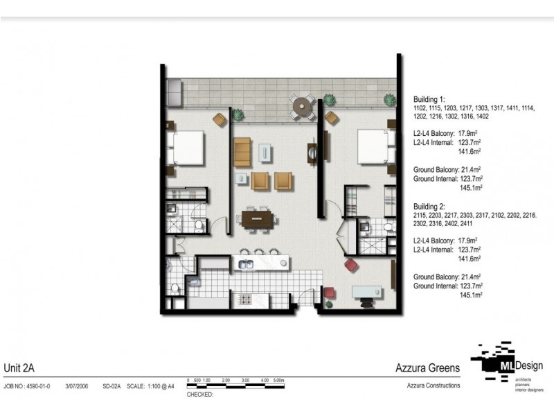 1217/2 Activa Way, Hope Island QLD 4212 Floorplan