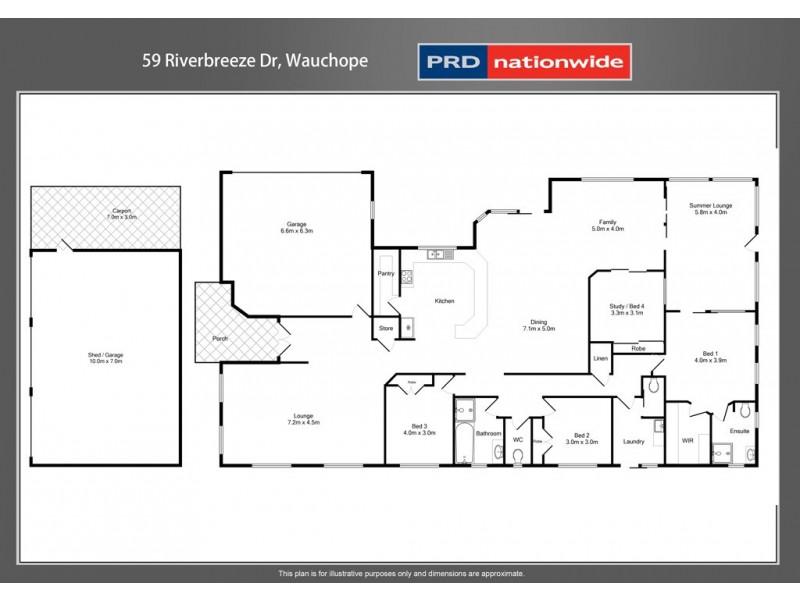 59 Riverbreeze Drive, Wauchope NSW 2446 Floorplan