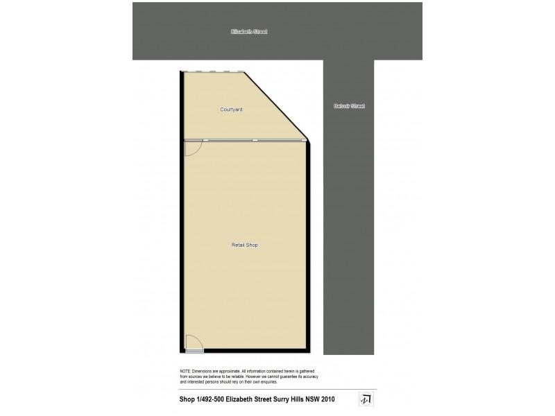 Shop 1/492-500 Elizabeth Street, Surry Hills NSW 2010 Floorplan