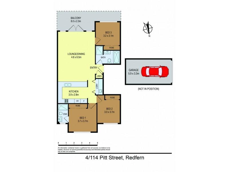 4/114-124 Pitt Street, Redfern NSW 2016 Floorplan