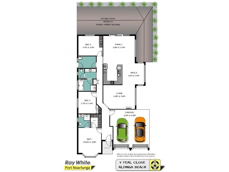 3 Teal Close, Aldinga Beach SA 5173 Floorplan